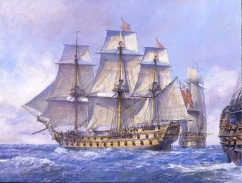 Geoff Hunt : HMS Captain 74-gun ship